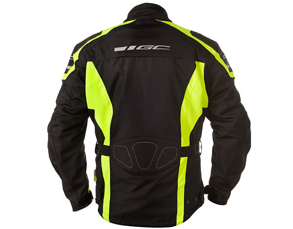 GC Bikewear One Way Fluo Zwart Back